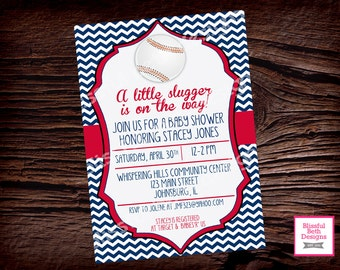items similar to baseball baby shower invitation on etsy, Baby shower invitations