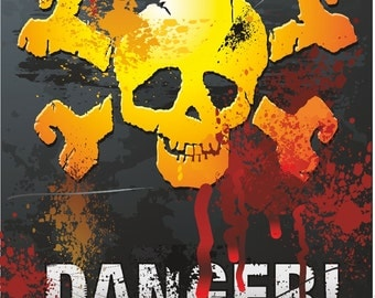 Danger Warning Sticker for Laptop Book Fridge Guitar Motorcycle Helmet ToolBox Door PC Boat