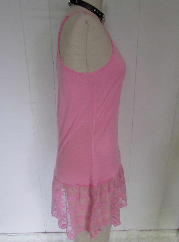 Bubblegum Pink Lace Floral See Through Babydoll Mini Dress
