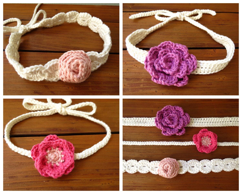 Crochet Flower Headband Pattern - Festival Boho - Baby ...