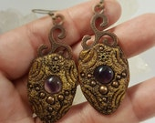 RESERVED amethyst earrings