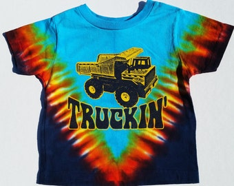 Truckin' youth kids tye-dye tee shirt - Grateful Dead, Jerry Garcia, hippie, deadheads
