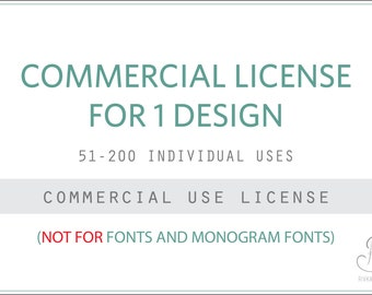 Commercial license for Rivka's Renditions Design(s) // 51-200 Uses