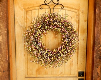 Spring Wreath-Spring Door Wreaths-Pastel Wreath-Easter Home Decor-PASTEL Egg Wreath-Holiday Wreath-Spring Home Decor-Scented Wreaths