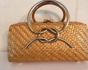 Italian rattan handbag from Sacks
