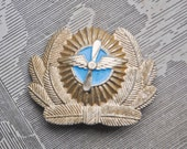 Vintage Soviet Russian aluminum military cockade,badge.