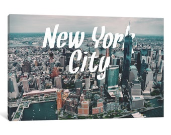 iCanvas New York Gallery Wrapped Canvas Art Print by 5by5collective