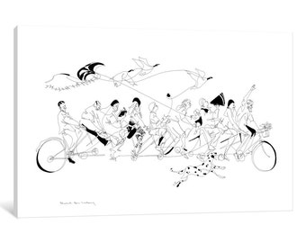 iCanvas July Long Weekend Gallery Wrapped Canvas Art Print by Rachel Ann Lindsay