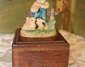 Small Music Box - Boy Holding Rabbits - My Favorite Things