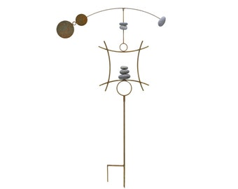 Kinetic Wind Sculpture | Garden Spinner Yard Stake | Wind Vane