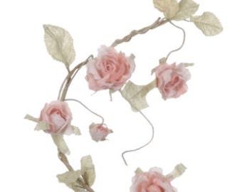 Dusky Pink Rose Garland -Organza