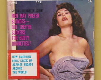 Vintage Men's Digest Sized Magazine Foto-Rama 1953 Julie Newmar pin up photos