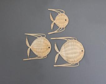 Woven Fish Wall Hanging