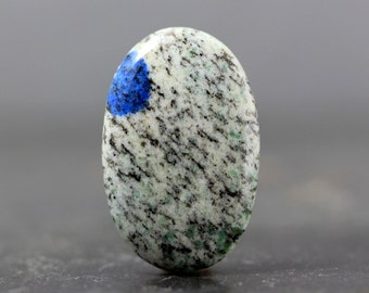 K2 Jasper - Azurite in Granite, Himalayan Natural Gemstone Oval Azurite Bead Cab, Gemstone Findings Wire Wrap Designs Bezel Setting Gemstone