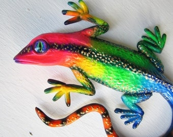 Lizard  art wall  sculpture-gecko art-reptile art-whimsical gecko