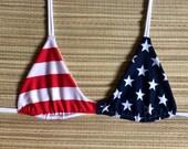 American Flag Stars n Stripes Bikini Top
