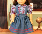 Back to School Jumper and Blouse for 18 Inch Dolls