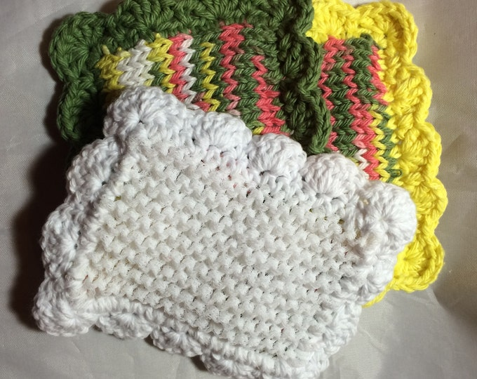 Knitted Sponge / Knitted Dishcloth / Fruit Bowl Scrubby / Pot Scrubber / Dish Scrubbies / Dish Cloth / Sponge / Nylon Scrubbie / Scrubber