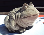 Stone Frog, Toad, Paperweight, Handmade
