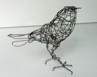 Original Handmade Wire Bird Sculpture - MADEIRA