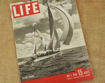 Vintage LIFE Magazine Sailing Season July 1946 Vintage Advertisments