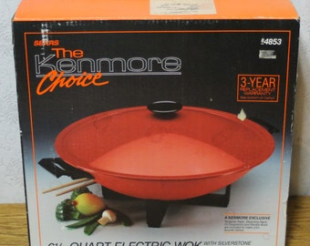 New in Box Vintage Sears Kenmore Wok 6 1/2 Qt. Electric # 84853 USA by West Bend