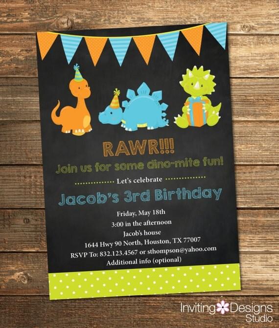 May The 4th Be With You Invitations: Items Similar To Dinosaur Birthday Invitation, Boy