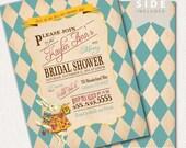 Alice in Wonderland Invitation / Bridal Shower / Mad Hatter Tea Party - Printable - Teal