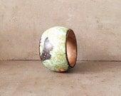 Rustic boho bracelet, wooden bangle, gift for her, boho jewelry