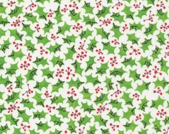 Cloud9 Organic Fabrics - Festive - Holly 1/2 YD
