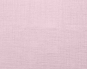 Double Gauze Fabric - Solid Baby Pink Embrace from Shannon Fabric's Embrace Collection -