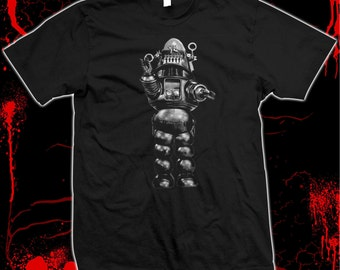 Robby The Robot - Forbidden Planet - Pre-shrunk 100% cotton t-shirt
