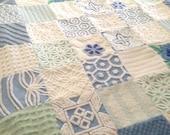 """Vintage Chenille Ultra Plush Quilt ~ Lap Quilt / Coverlet - Throw - 72"""" x 60"""" - Romantic Home Decor"""