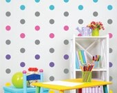 Polka Dot Wall Decals - Peel and Stick Wall decals - Gold Polka Dots