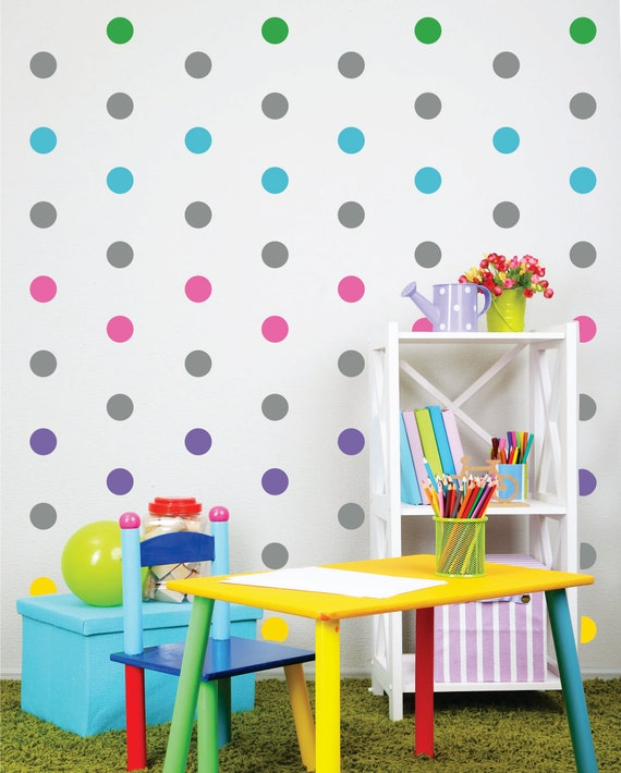 Polka Dot Wall Decals - Nursery Wall Decals - Playroom Decor