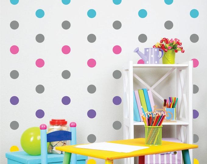 Polka Dot Wall Decals // Peel and Stick Wall Art // Nursery Wall Decor // Polka Dot Stickers
