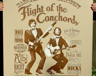Flight of the Conchords Hand Pulled Limited Edition Screen Print