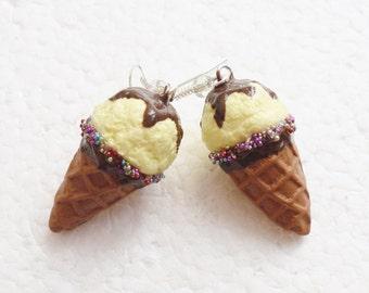 Vanilla Ice Cream Earrings.