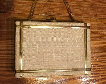 Vintage Box Style Goldstrom Purse