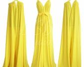 Women wide leg convertible jumpsuit oversized plus size 3xl 4xl maxi baggy maternity overall yellow summer beach party women handmade ZEPHYR