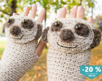 Meerkat / Suricate Fingerless Gloves ~ FREE Shipping Worldwide