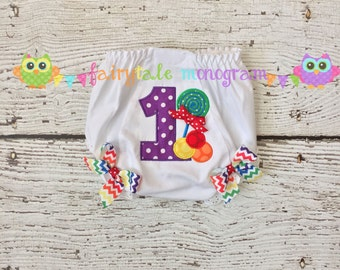 Baby girl monogrammed embroidered bloomers - Rainbow Candy Shop