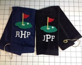 28 custom Monogrammed golf towels