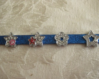 Slide charms for 8 mm wristbands.  You can design your own style
