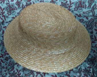 HOLD Reproduction Victorian Era Straw Hat -  by Anna Worden Bauersmith