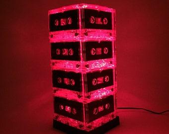 Red Cassette Tape Lamp Mixtape Light Night Light