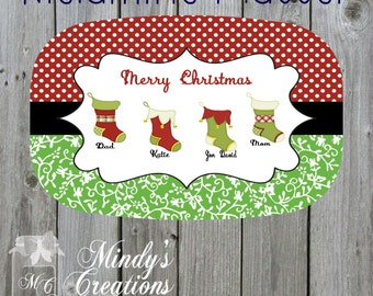 Chistmas/Personalized Melamine Platter