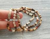 Owl Charm Bracelet - Owl Friendship Bracelet - Woodland Bracelet - Owl Bracelet Set - Bird Jewelry - Pulsera de Buho - Stretch Bracelet