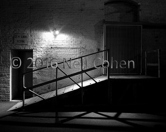 Receiving Dock, Downtown Chicago black and white fine art archival inkjet photograph