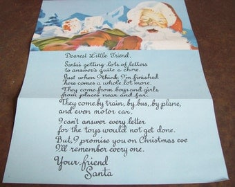 Letter from Santa Claus vintage NOS with envelope Pamida Bemidji Minn MN Christmas collectable free shipping to USA